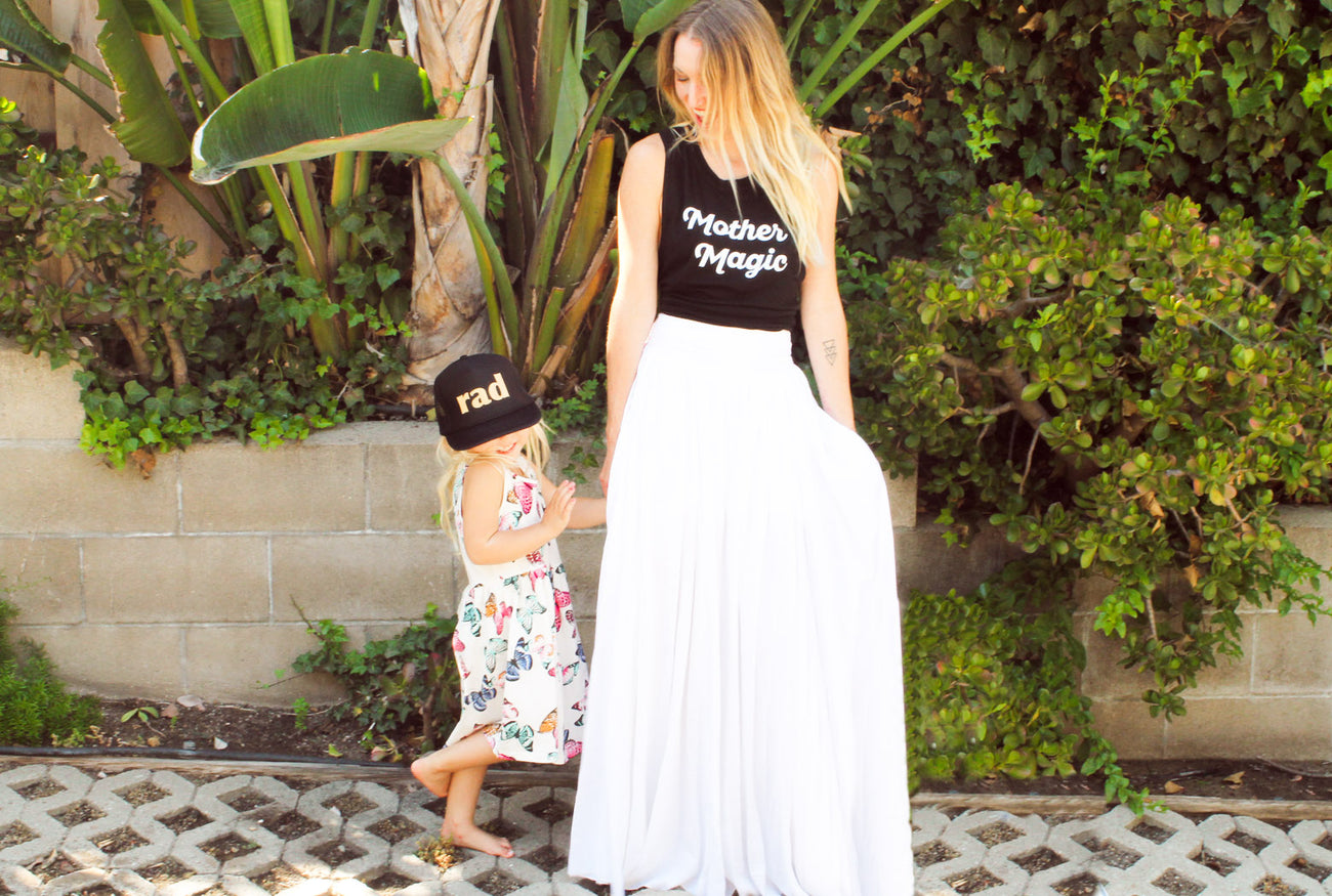 Mother magic, breastfeeding top, nursing friendly, normalize breastfeeding, kids trucker hat, mothersun and the captain, millennial mom
