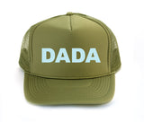 Dada trucker hat in olive green