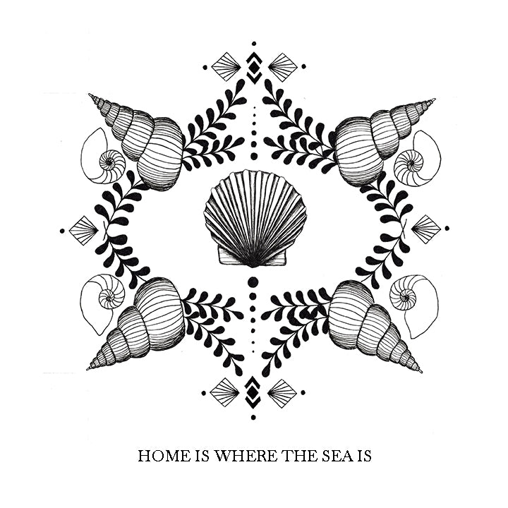 home is where the sea is, art print, beach decor, nautical decor