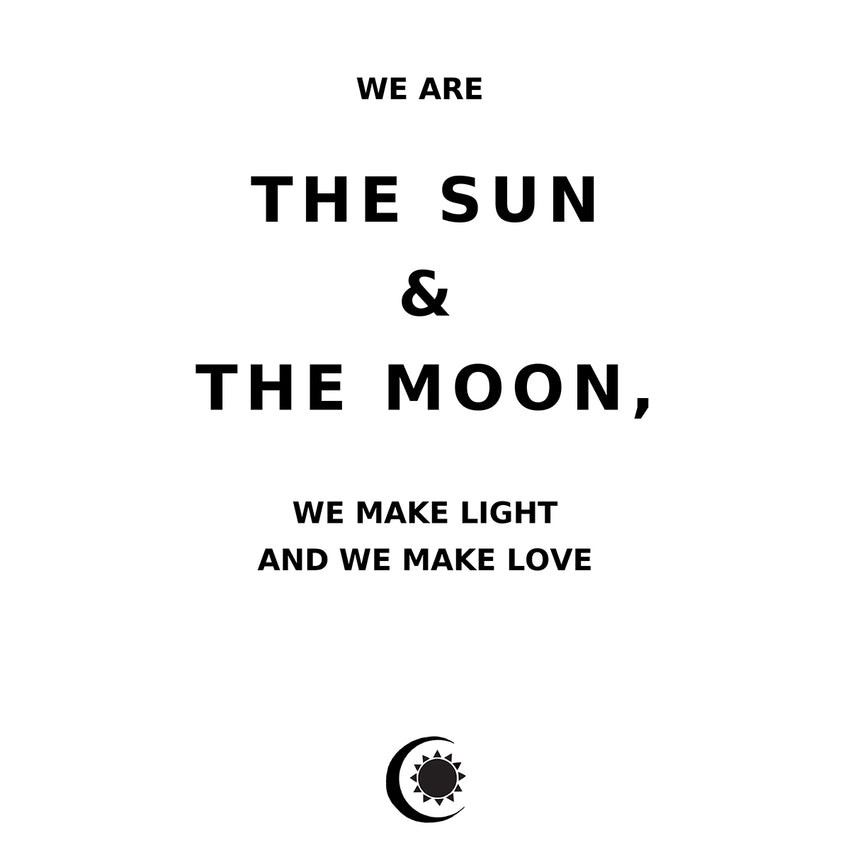 sun and moon quote, art print, home decor, sun and moon art print