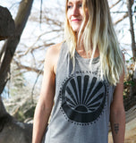 balanced nursing tank for mamas, printed on USA Made organic cotton and bamboo tanks