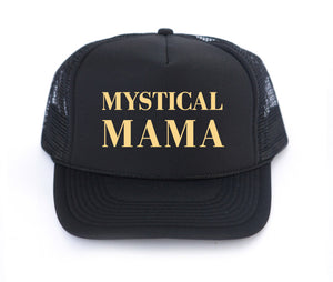 mystical mama, mystic mamma, light worker, oracle cards, trucker hats, modern motherhood