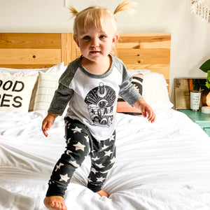 roar baby eco raglan, sun and moon baby clothing