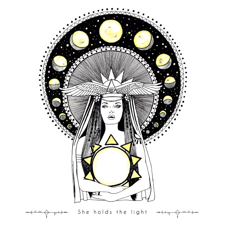 Mothersun art, Goddess art, art posters for your home, office, and nursery