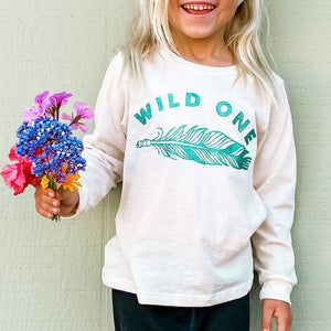 wild one organic long sleeve for kids