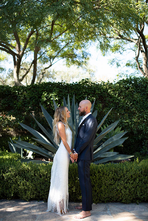 Santa Barbara wedding first look
