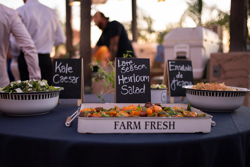 local organic wedding food menu