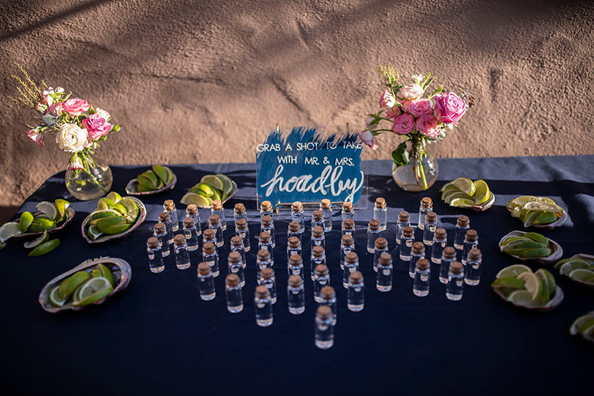 wedding tequila shots