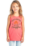 Life Is Better By The Campfire - Girls Top - Life Is Better By The Campfire - Girls Top - Kids & Babies- Spocket My BeezNest newborn
