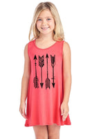 Arrow Design Sleeveless Girls Dress - Arrow Design Sleeveless Girls Dress - Kids & Babies- Spocket My BeezNest newborn