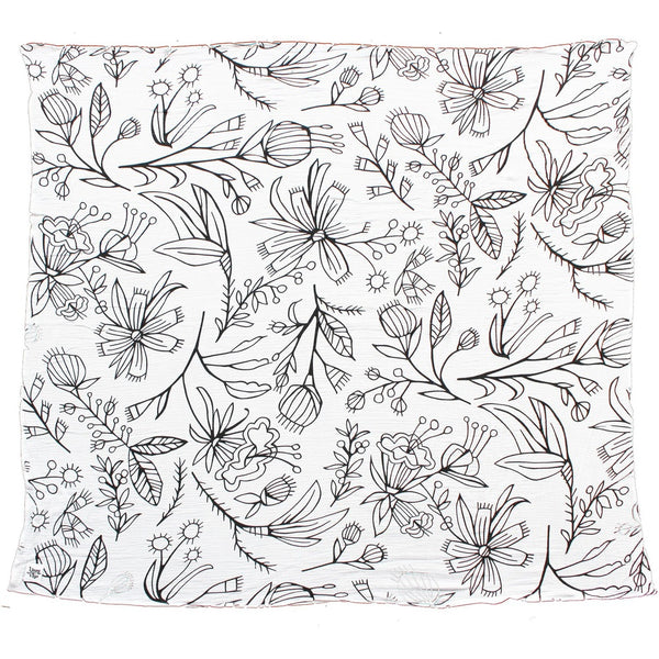"Swaddle Blanket ""Spring Flowers"" - Swaddle Blanket ""Spring Flowers"" - Kids - Girls - Accessories- Young and Free Apparel My BeezNest newborn"