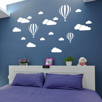 DIY Large Clouds Balloon Wall Decals Children's - DIY Large Clouds Balloon Wall Decals Children's - Home & Garden- Black Lily My BeezNest newborn