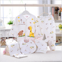 Newborn baby arrival clothing set gift set yellow giraffe animal print