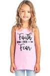 Faith Over Fear W Arrow - Girls Sleeveless Top - Faith Over Fear W Arrow - Girls Sleeveless Top - Kids & Babies- Spocket My BeezNest newborn