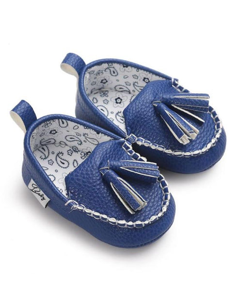 blue leather moccasin shoes baby girl infant newborn toddler kids walkers soft sole shoes yellow