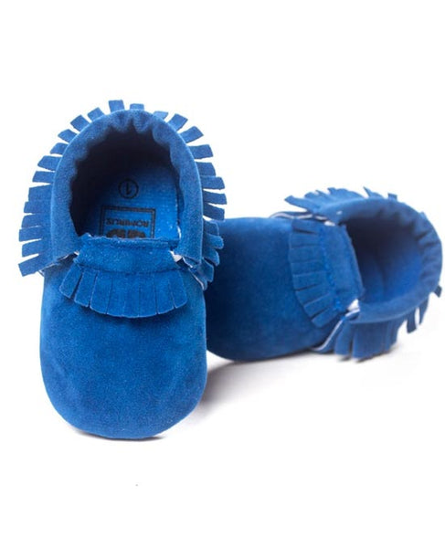 Baby Moccasins Crib Shoes - Blue - Baby Moccasins Crib Shoes - Blue - Shoes- My BeezNest My BeezNest newborn