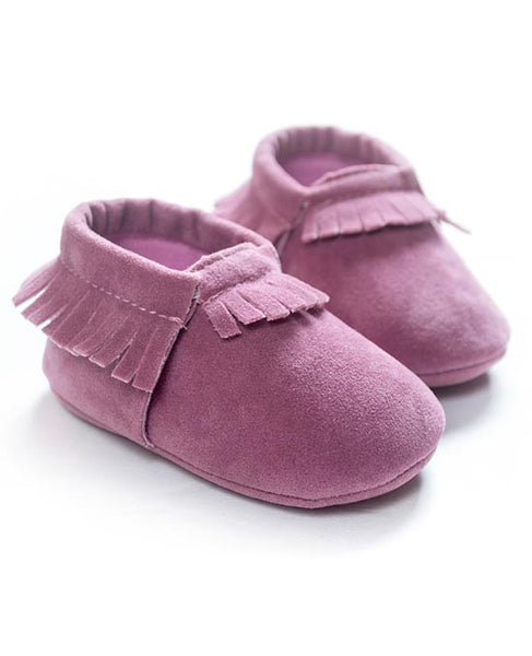 newborn baby girl blush leather suede moccasins newborn crib shoes footwear