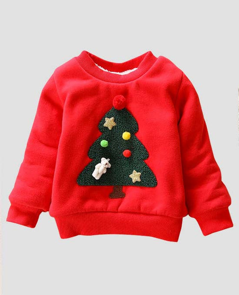 front view holiday christmas sweater childrens red