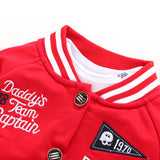 Daddy's Team Captain Letterman Jacket Outfit - Daddy's Team Captain Letterman Jacket Outfit - Outfit- My BeezNest My BeezNest newborn