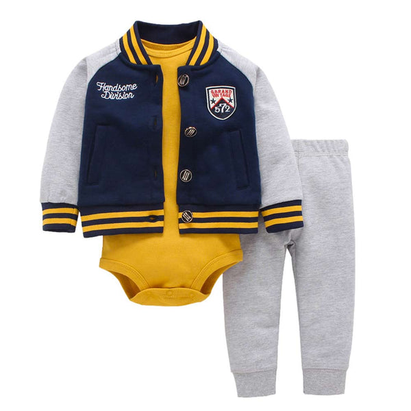 Baby Boy Clothes Set with Letterman Jacket - Baby Boy Clothes Set with Letterman Jacket - Outfit- My BeezNest My BeezNest newborn