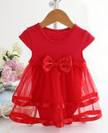 newborn baby girl dress lace bowtie cute adorable bodysuit