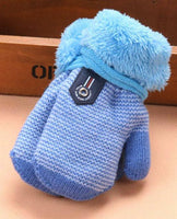 baby newborn mittens boy girl light blue