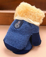 baby newborn mittens boy girl dark blue