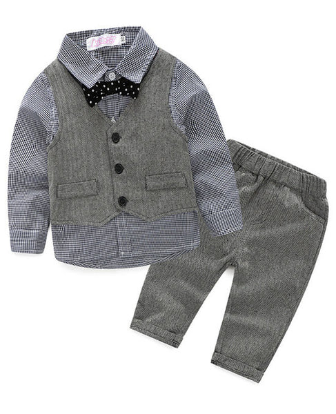 Baby Boy Formal Suit with Vest - Baby Boy Formal Suit with Vest - Outfit- My BeezNest My BeezNest newborn