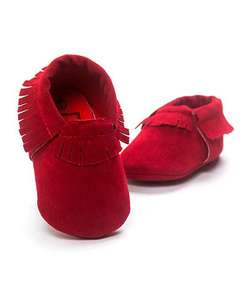 newborn baby first walker leather suede moccasins
