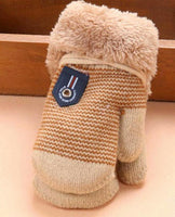 baby newborn mittens boy girl tan-beige