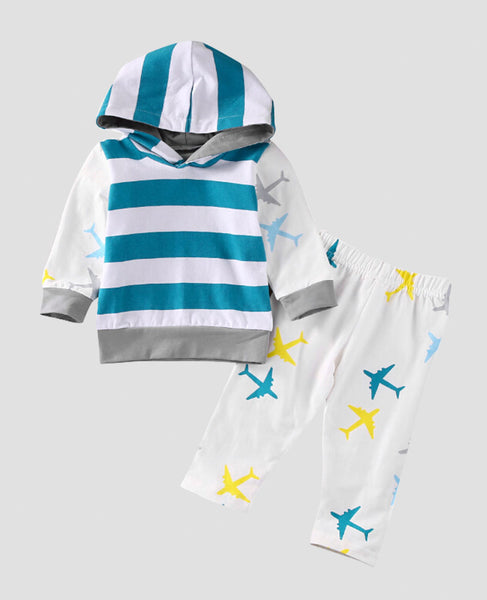 baby hoodie clothes set unisex boys girls pants long sleeve top