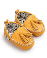 yellow leather moccasin shoes baby girl infant newborn toddler kids walkers soft sole shoes yellow