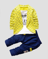 baby boy clothes set cotton pants yellow