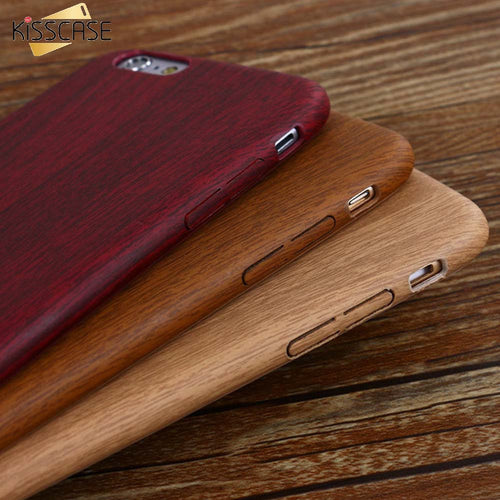 Vintage Wood Texture Pattern Leather Cases For iPhone
