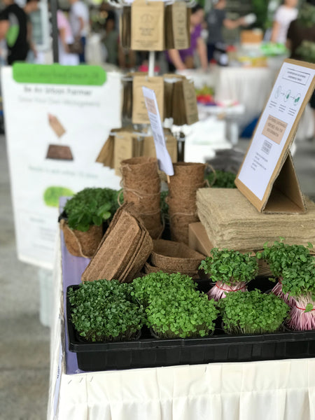 garden bazaar, market, singapore, farmers market, buy microgreen seeds, vegetable seeds, national parks singapore,