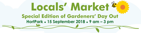 Nparks Gardeners day out, singapore, september, 15, everything green, farmers market singapore, 2018,