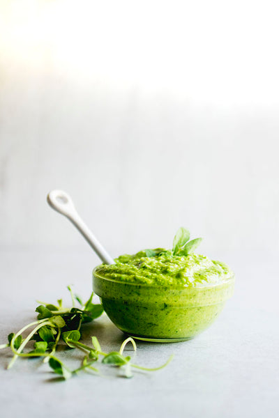 pesto sauce with microgreens, everythinggreensg recipes, everything green singapore, best pesto sauce