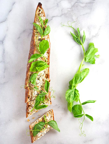 pea shoots, sweet peas, microgreens, recipe, tartine, how to cook pea shoots