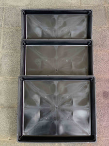 Plant Grow Trays Set of 3 (With No Holes)
