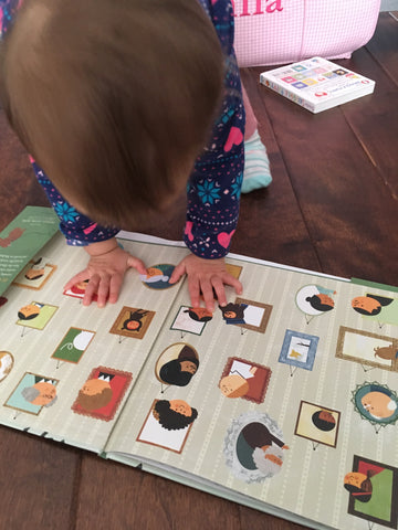 Little fingers viewing Many Shades books
