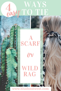 How to tie a scarf and wild rag in your hair or around your neck