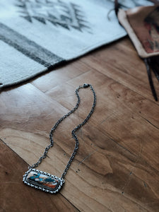 Multi-Stone Bar Necklace