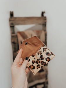 Hair on Hide Leopard Coin Pouch
