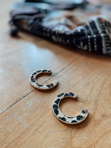 Leopard Open Hoops