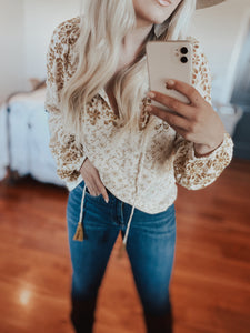 Mustard Embroidered Blouse