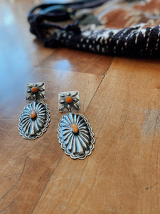 The Colusa Concho Earrings