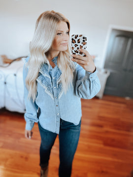 Denim & Lace Prairie Blouse