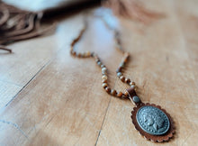Natural Bead with Coin Pendant