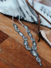 Silver Concho Necklace