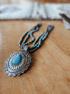 Silver & Turquoise Pendant Necklace